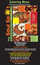 Click here for Catering Menu - Soul Spot