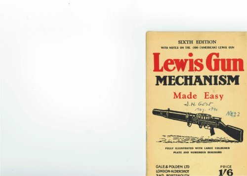 Lewis Gun Mechanism Made Easy pdf - Forgotten Weapons