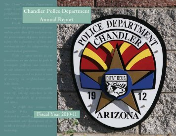 2010-2011 Annual Report - Chandler Police Department