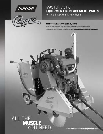 Norton Construction Clippers Parts - Dynatech