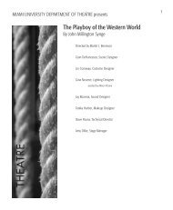 The Playboy of the Western World - School of Fine Arts - Miami ...