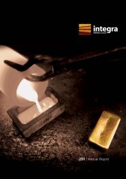 2011 |Annual Report - Integra Mining