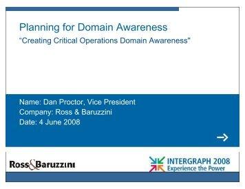 Critical Operations Domain Awareness - Ross & Baruzzini, Inc.