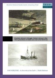 Maritime Historical Studies Centre, University of Hull FAR HORIZONS