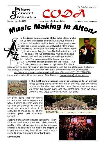 CODA February 2012 - Alton Concert Orchestra