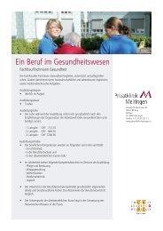 Fachfrau/Fachmann Gesundheit - Privatklinik Meiringen
