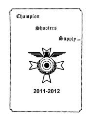Champion Shooters Supply Catalog 2011-2012