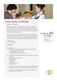 Kaufmann / Kauffrau - Privatklinik Meiringen