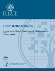Development of Utilization Flags for Use with UB - HCUP - Agency ...