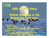 IEEE Code of Ethics – Ethical Challenges in the Engineering ...