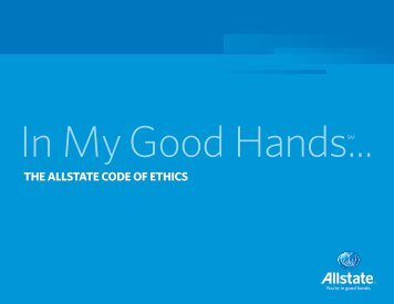 THE ALLSTATE CODE OF ETHICS