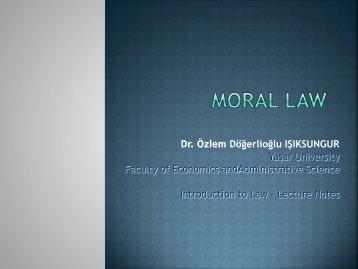 MORAL LAW - Dogerlihukuk.com