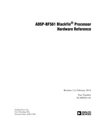 Adsp Bf535 Blackfin Processor Hardware Analog Devices
