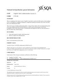 Oral Communication (Access 2) - Scottish Qualifications Authority