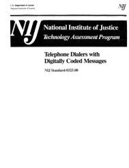 Telephone Dialers With Digitally Coded Messages - NIJ Standard ...