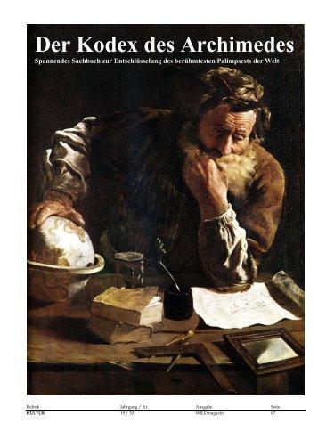 Der Kodex des Archimedes - WILD Magazin