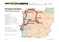 Portugal and Spain The Royal Route - MotoXplorers
