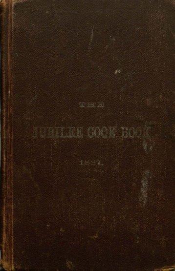 The Jubilee Cook Book. - Msu