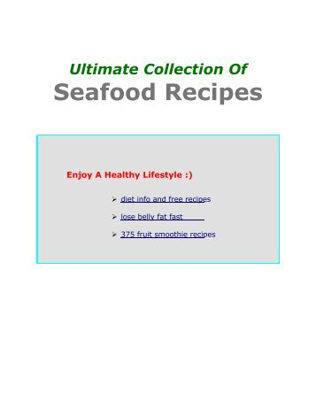Seafood Recipes - Healthy Weight Loss Diet