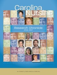 Research Chronicle, 2006 - School of Nursing - University of North ...
