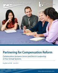 Partnering for Compensation Reform - Center for American Progress