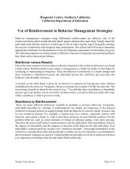 Use of Reinforcement in Behavior Management Strategies - PENT