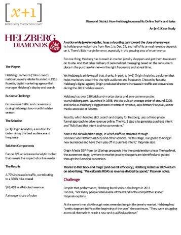 Helzberg Case Study - x+1