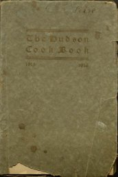 THE HUDSON COOK BOOK