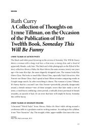 A Collection of Thoughts on Lynne Tillman - The Literary Review