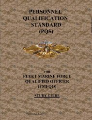 personnel qualification standard (pqs) - I Marine Expeditionary ...