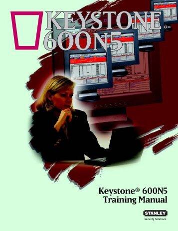 Keystone® 600N5 Training Manual - Best Access Systems