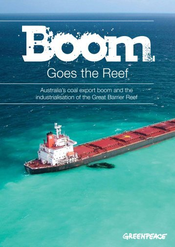 'Boom Goes the Reef'. - Greenpeace
