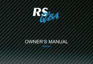 OWNER'S MANUAL - Fogh Marine