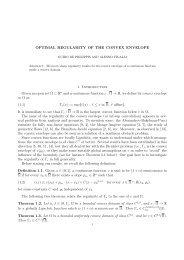 OPTIMAL REGULARITY OF THE CONVEX ENVELOPE 1 ...