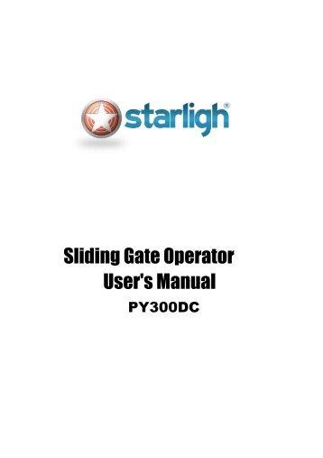 Sliding Gate Operator User's Manual - starligh
