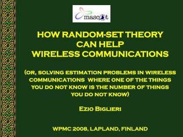 how random-set theory can help wireless communications