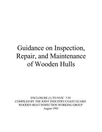 Inspection of Wooden Vessels - L-36 Fleet