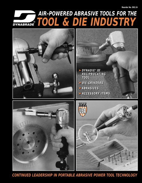 air-powered abrasive tools for the tool & die industry - Dynabrade Inc.