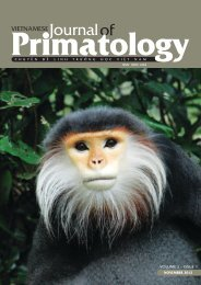 Vietnamese Journal of Primatology (2012) - Frankfurt Zoological ...