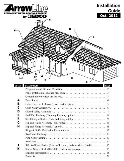 Installation Guide Edco Products Inc