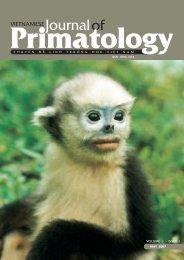 Vietnamese Journal of Primatology - Frankfurt Zoological Society