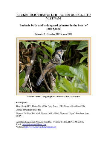 Endemic birds and endangered primates in the - Birdwatching ...
