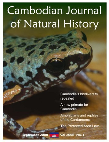 Cambodian Journal of Natural History - Fauna & Flora International