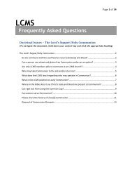Frequently Asked Questions - The Lutheran Church—Missouri Synod