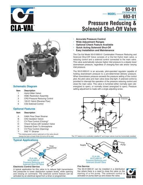 Pressure Reducing & Solenoid Shut-Off Valve - M & M Control