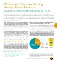 Closing and Decommissioning Nuclear Power Reactors