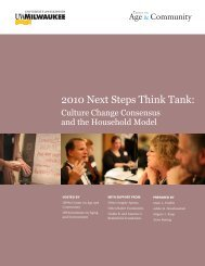 2010 Next Steps Think Tank: - Center on Age and Community