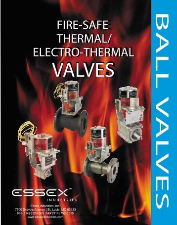 Essex Fuseable Link Fire Shut Off Ball Valve - Global Supply Line