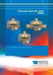 Thermal shut-off valve TSOV - Watts Industries