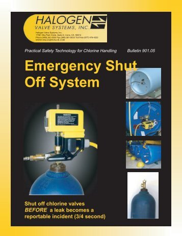 Gas Ton and Cylinder Shutdown Info